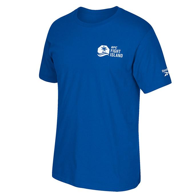 Men's UFC Reebok Fight Island Crew T-Shirt - Royal