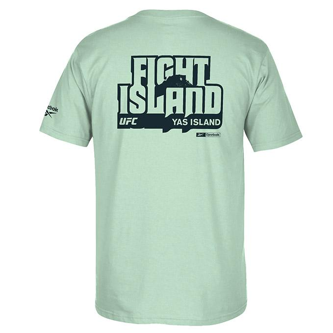 Men's UFC Reebok Fight Island Crew T-Shirt - Mint