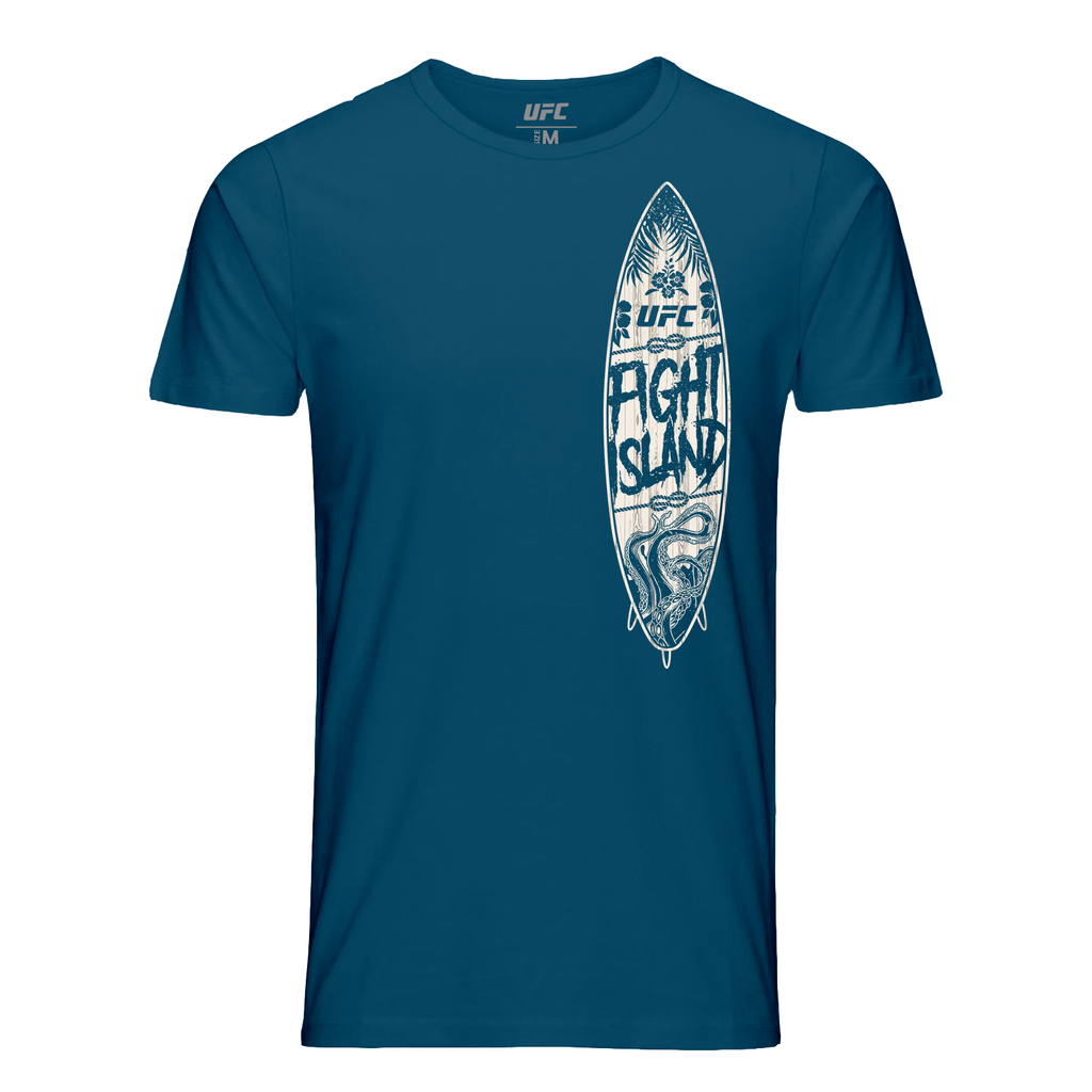 UFC Men's Fight Island Island Surf Graphic T-Shirt- Teal