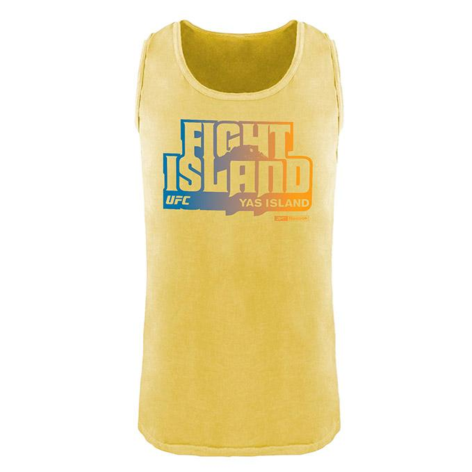 Men's UFC Fight Island Returns Reebok Garment Dyed Tank Top - Yellow