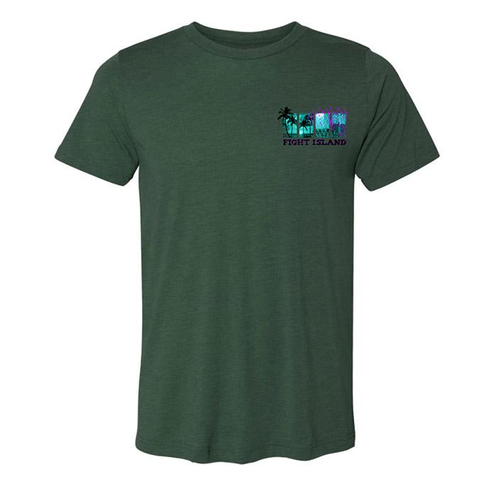 UFC Fight Island Sections T-Shirt - Forest Green