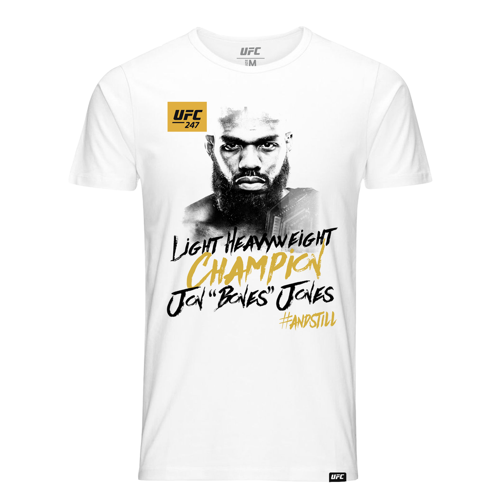 "Men's UFC 247 #ANDSTILL Jon ""Bones"" Jones Winners T-Shirt - White"