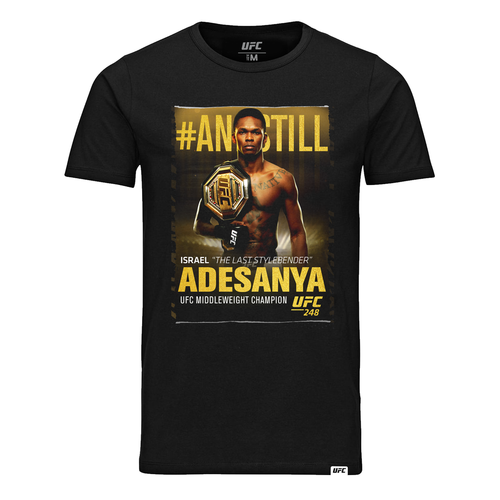 "#AndStill Men's UFC Middleweight Champion Israel ""The Last Stylebender"" Adesanya Winners Tee-Black"