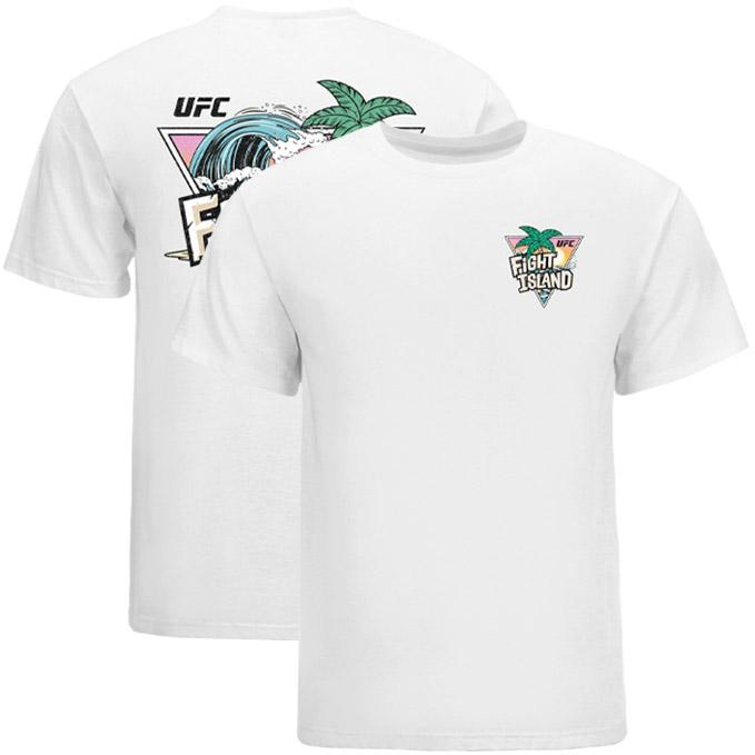 Men's UFC Fight Island Tropical Wave T-Shirt - White
