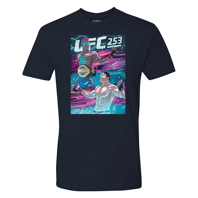 Men's UFC 253 Adesanya vs Costa Artist Series Event T-Shirt - Navy