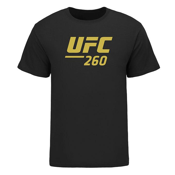 Men's UFC 260 Event T-Shirt - Black