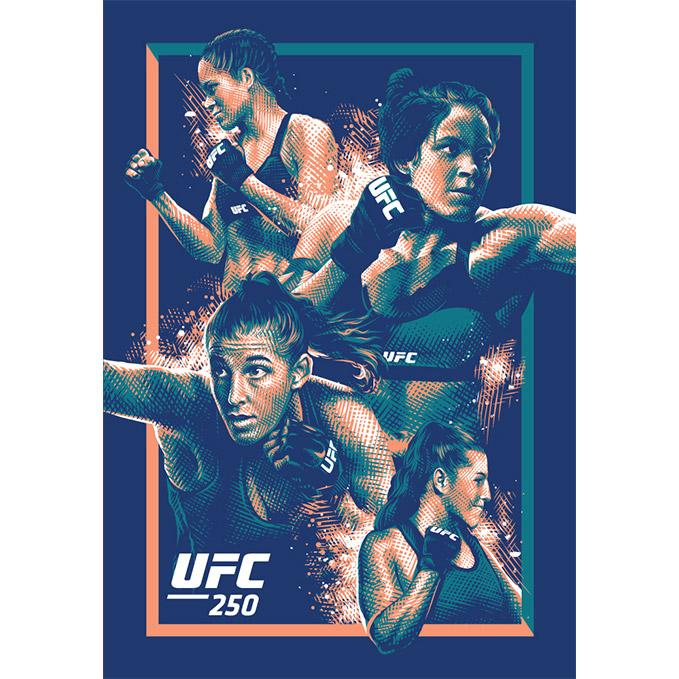 UFC 250 Nunes vs Spencer Artist Series Poster