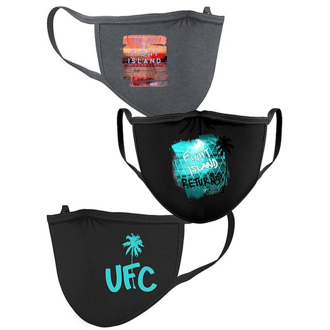 UFC Fight Island 3-Pack Face Coverings