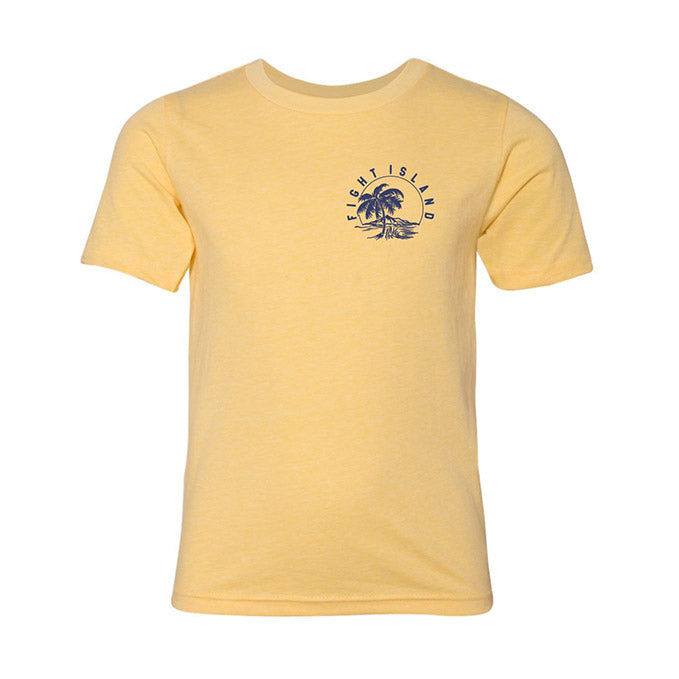 Kids' UFC Fight Island Horizon T-Shirt - Light Yellow