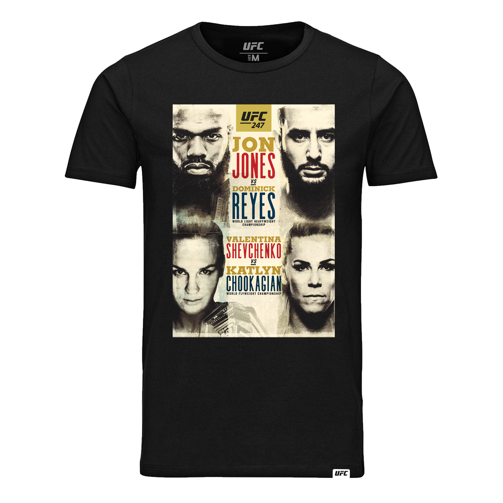 Kid's UFC 247 Bones vs Reyes Event T-Shirt- Black