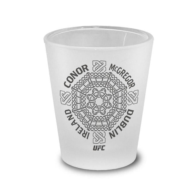Conor McGregor Celtic Cross Frosted Shot Glass