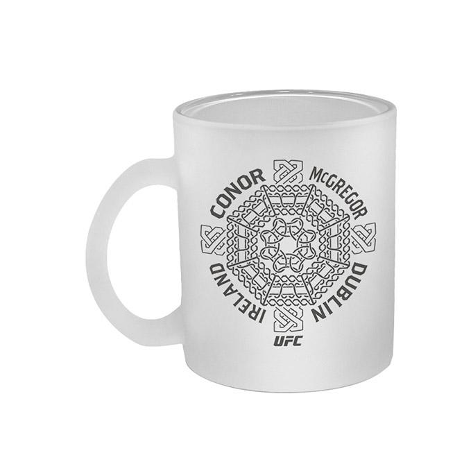 Conor McGregor Celtic Cross Frosted Coffee Mug
