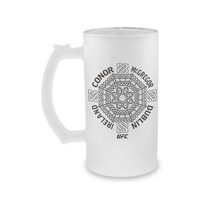 Conor McGregor Celtic Cross Frosted Stein