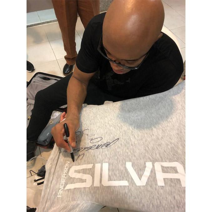 Anderson Silva UFC Event Worn Autographed Jersey - UFC 237