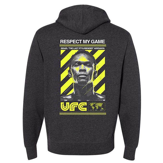 UFC Israel Adesayna Respect Collection Hoodie - Charcoal Heather