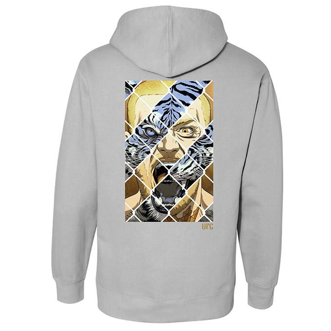 UFC Conor McGregor Tiger Eyes Zip-Up Hoodie - Stone Heather