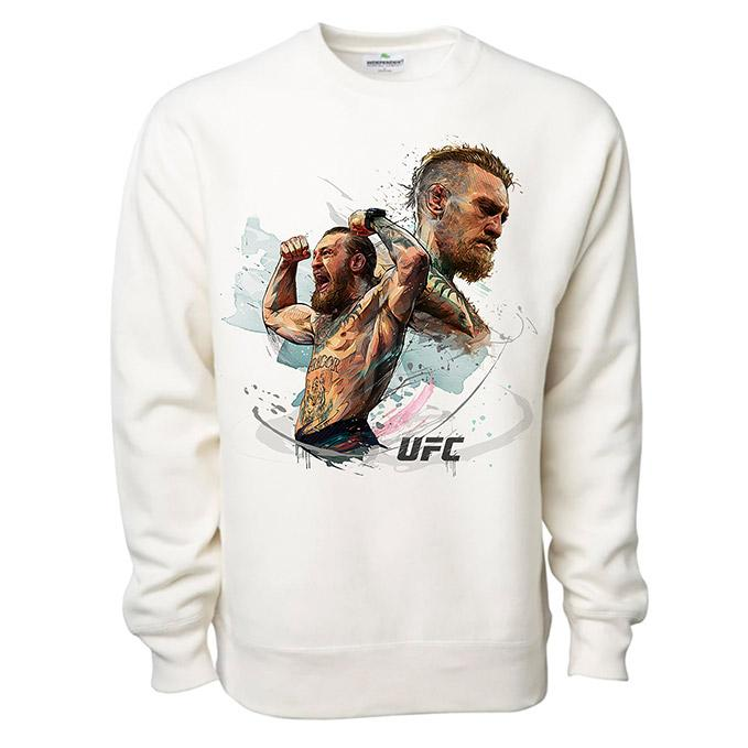 UFC Conor McGregor Juxtaposition Crew Sweatshirt - Bone