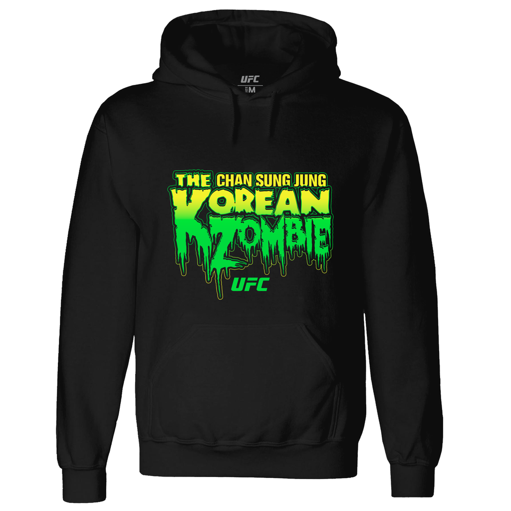 "Men's UFC Chan Sung Jung ""The Korean Zombie"" Horror Hoodie-Black"
