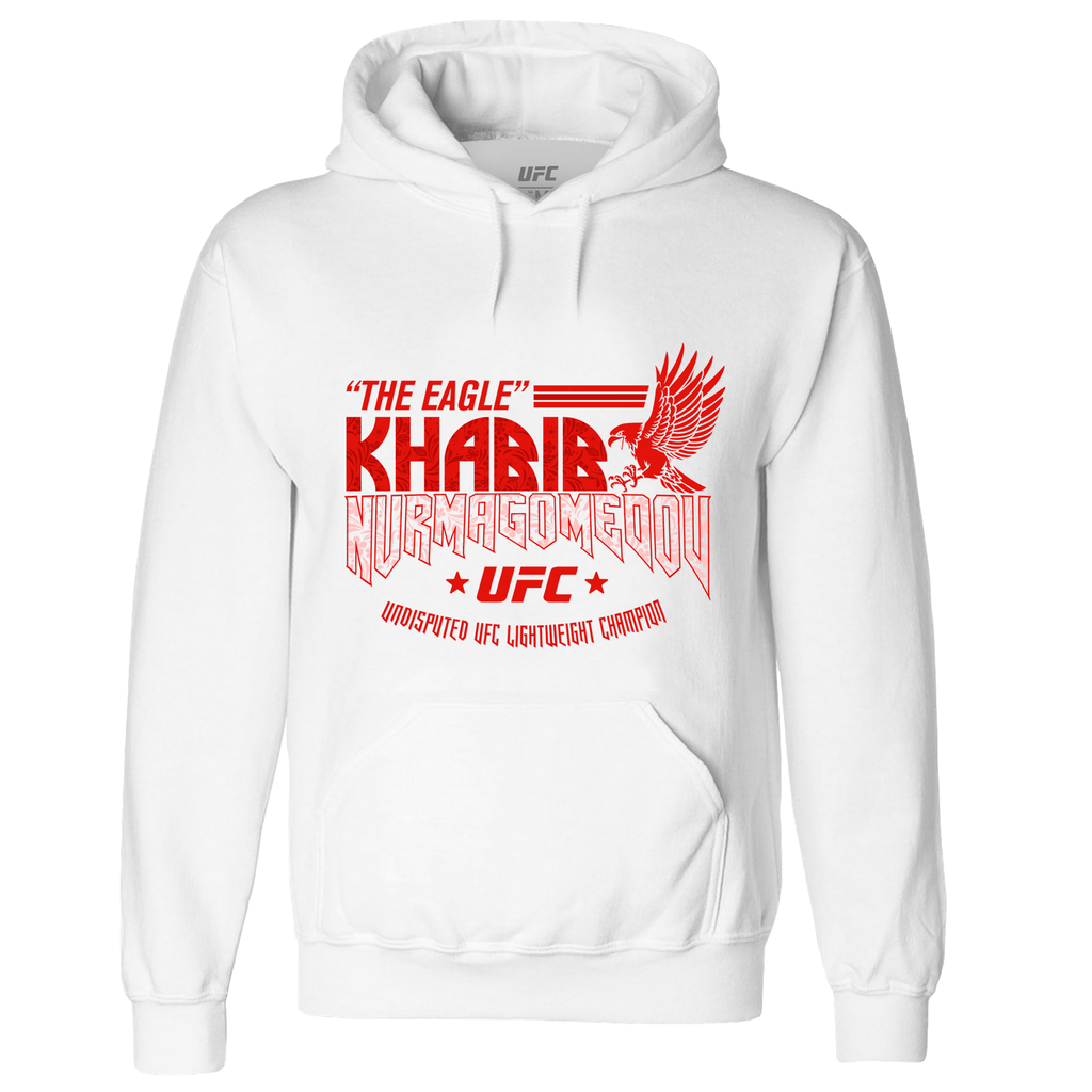"Men's UFC Khabib ""The Eagle"" Nurmagomedov Eagle Hoodie - White"