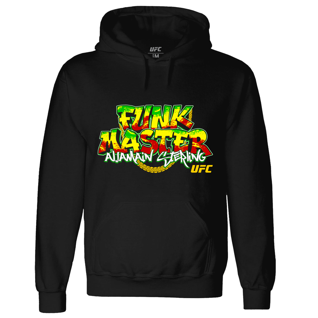 "Men's Aljamain ""Funk Master"" Sterling Graphic Hoodie - Black"