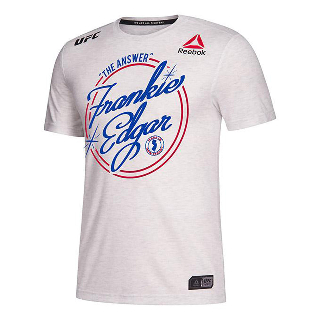 Men's Reebok Frankie Edgar Chalk UFC 240 Legacy Walkout Series Jersey
