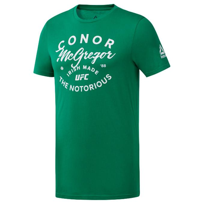 "UFC Reebok Fan Gear Conor ""The Notorious"" MCGREGOR Tee- Green"