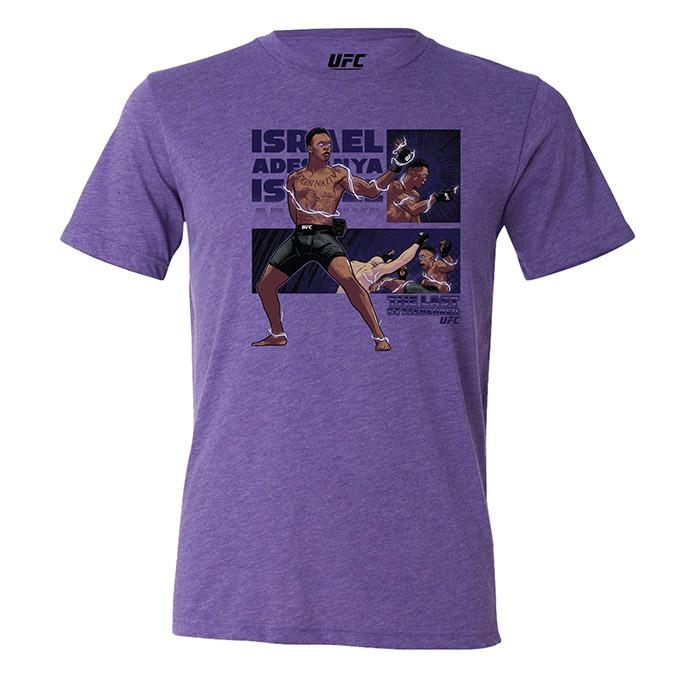 "Men's UFC Israel ""The Last Stylebender"" Adesanya Character T-Shirt - Purple"
