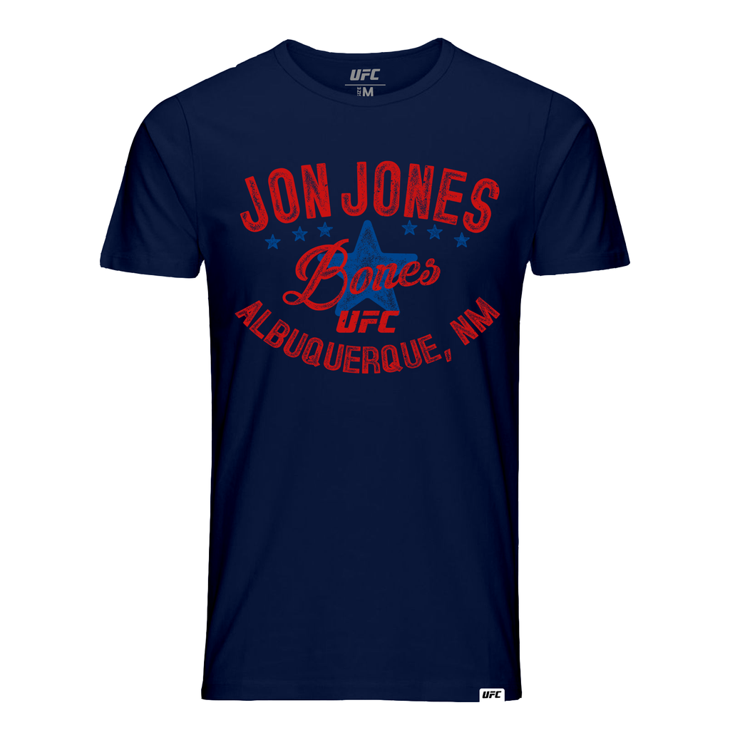 "Men's UFC Jon ""Bones"" Jones Vintage Graphic T-Shirt- Navy"