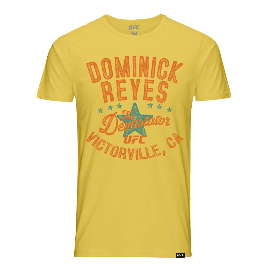 "Men's UFC Dominick ""The Devastator"" Reyes Vintage T-Shirt -Yellow"
