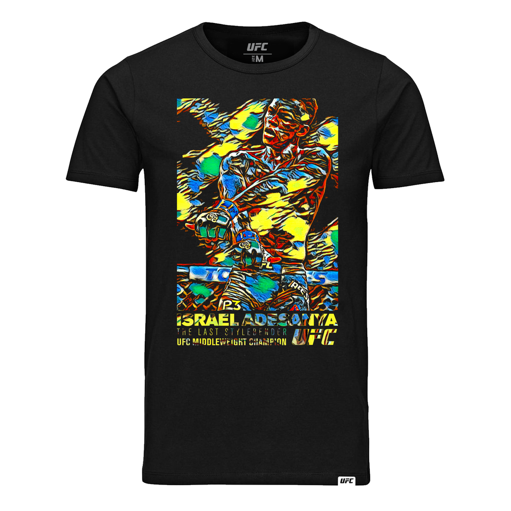 "Men's Israel ""The Last Stylebender"" Adesanya Paint Burst T-Shirt-Black"
