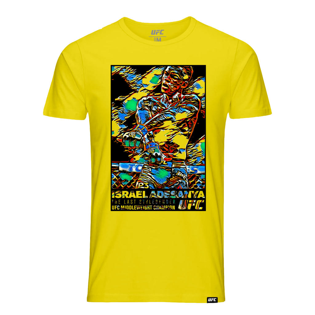 "Men's Israel ""The Last Stylebender"" Adesanya Paint Burst T-Shirt-Yellow"