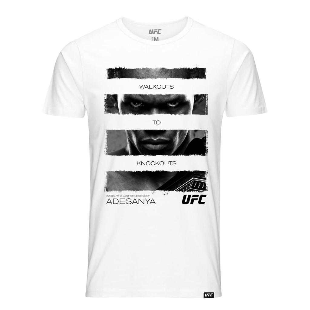 "Men's Israel ""The Last Stylebender"" Adesanya Walkouts to Knockouts Quote Tee-White"