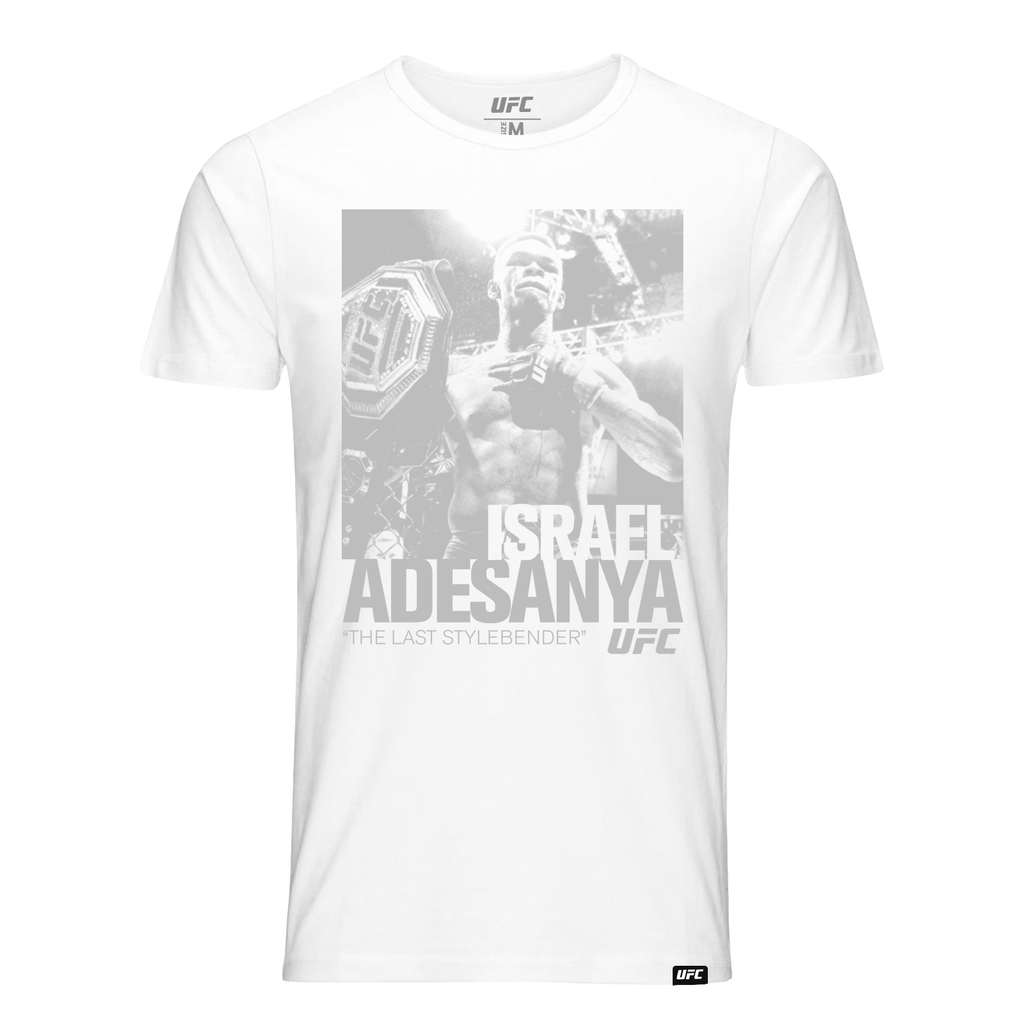 "Men's Israel ""The Last Stylebender"" Adesanya ICON Graphic T-Shirt-White"
