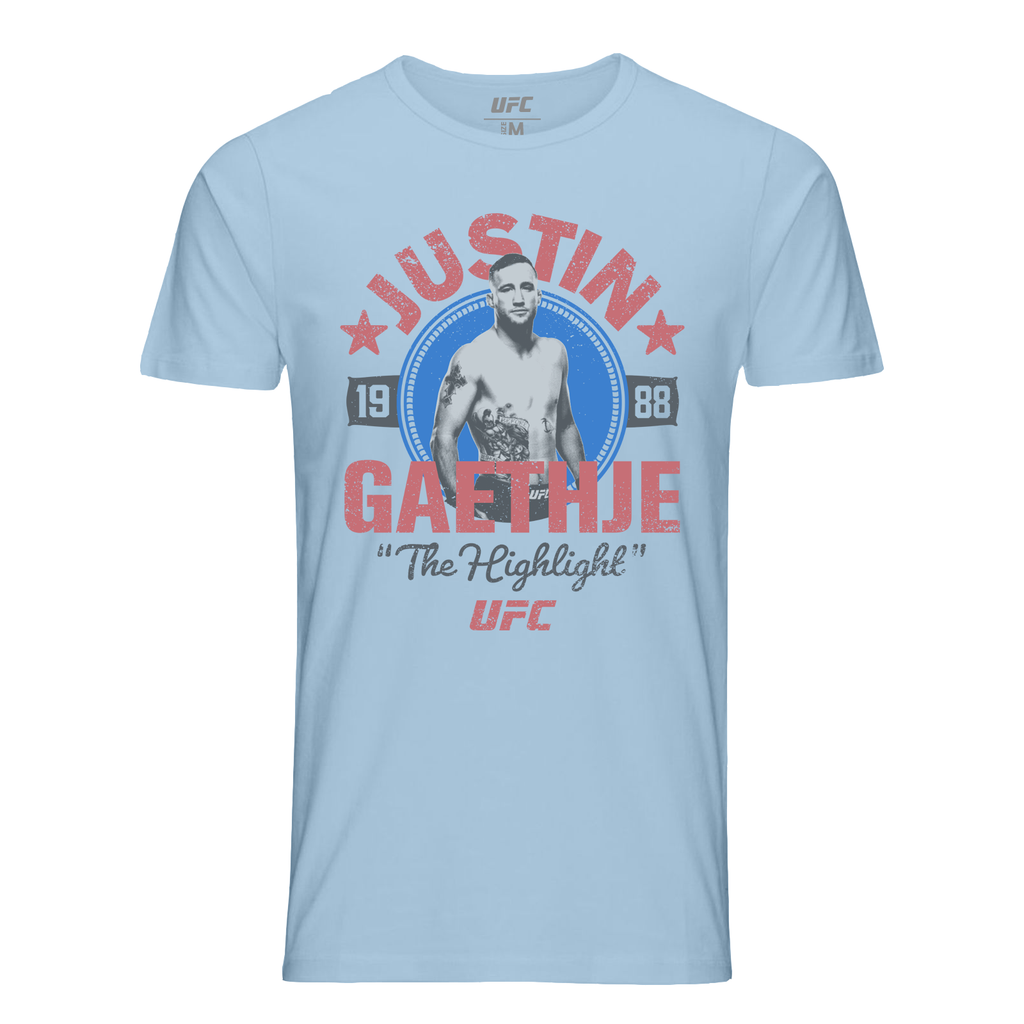 "Men's UFC Justin ""The Highlight"" Gaethje Crest T-Shirt-Blue"