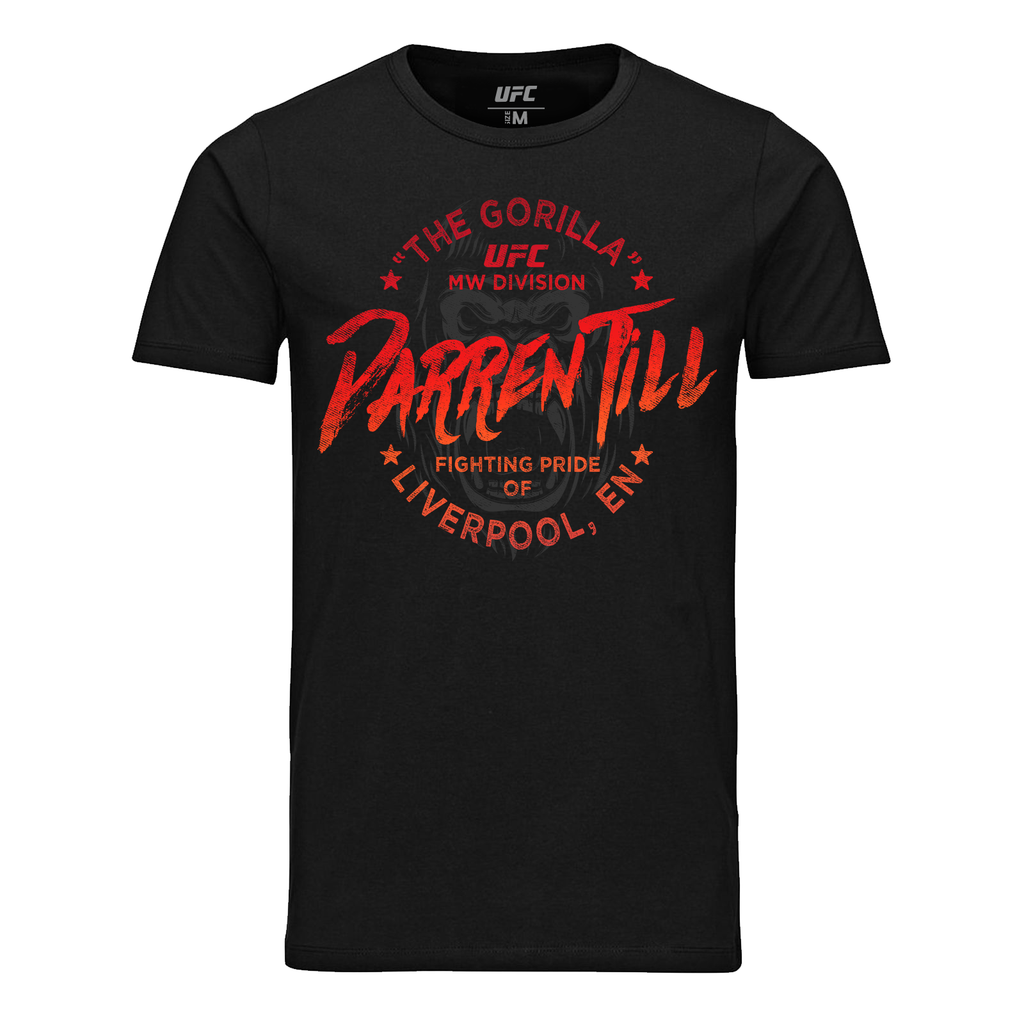 UFC Men's Darren Till Liverpool Gorilla T-Shirt - Black