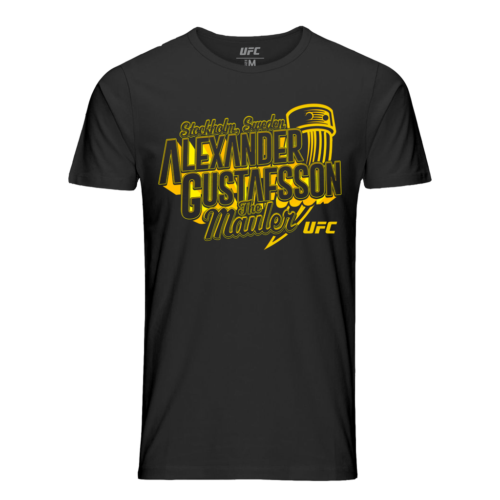 "UFC Men's Alexander ""The Mauler"" Gustafsson Viking T-Shirt-Black"