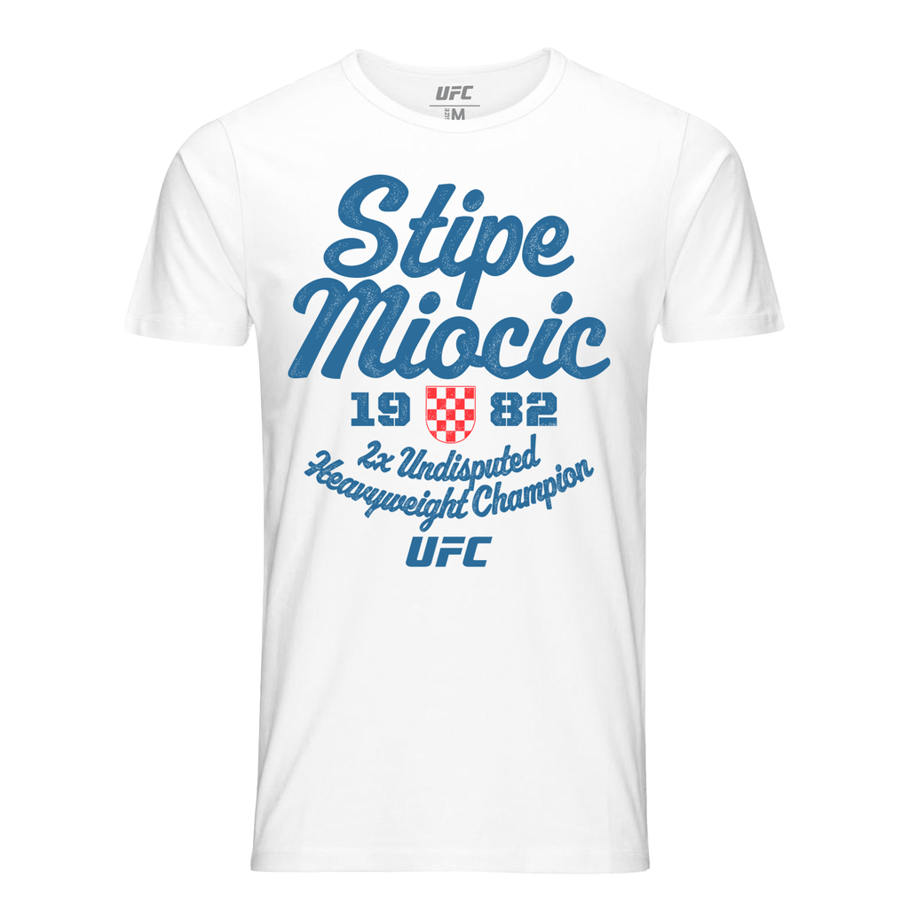 Men's Stipe Miocic 1982 Champ T-Shirt-White