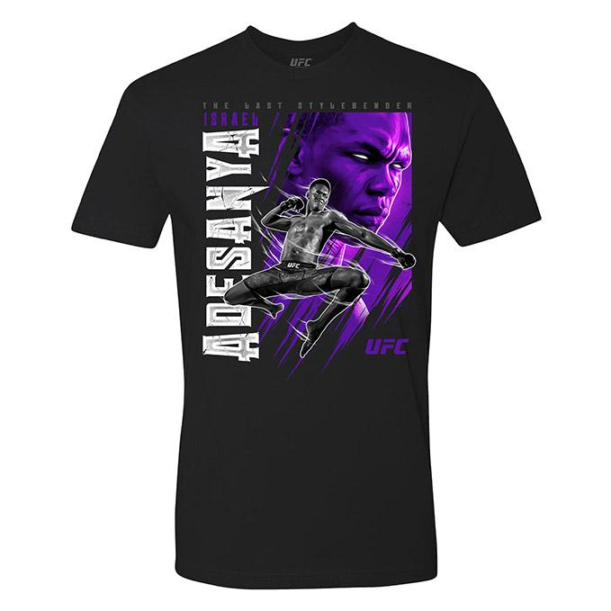 "Men's UFC Israel ""The Last Stylebender"" Adesanya Poster T-Shirt - Black"