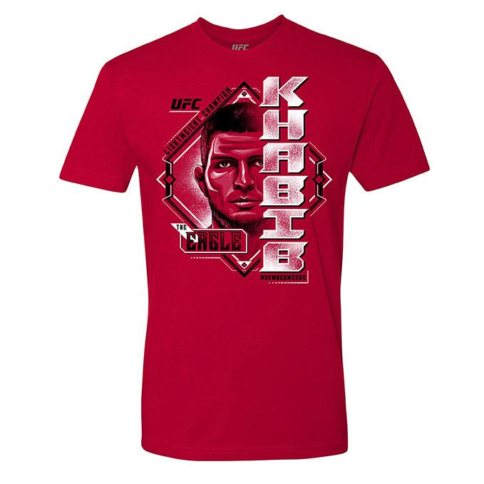 "Men's UFC Khabib ""The Eagle"" Nurmagomedov Portrait T-Shirt - Red"