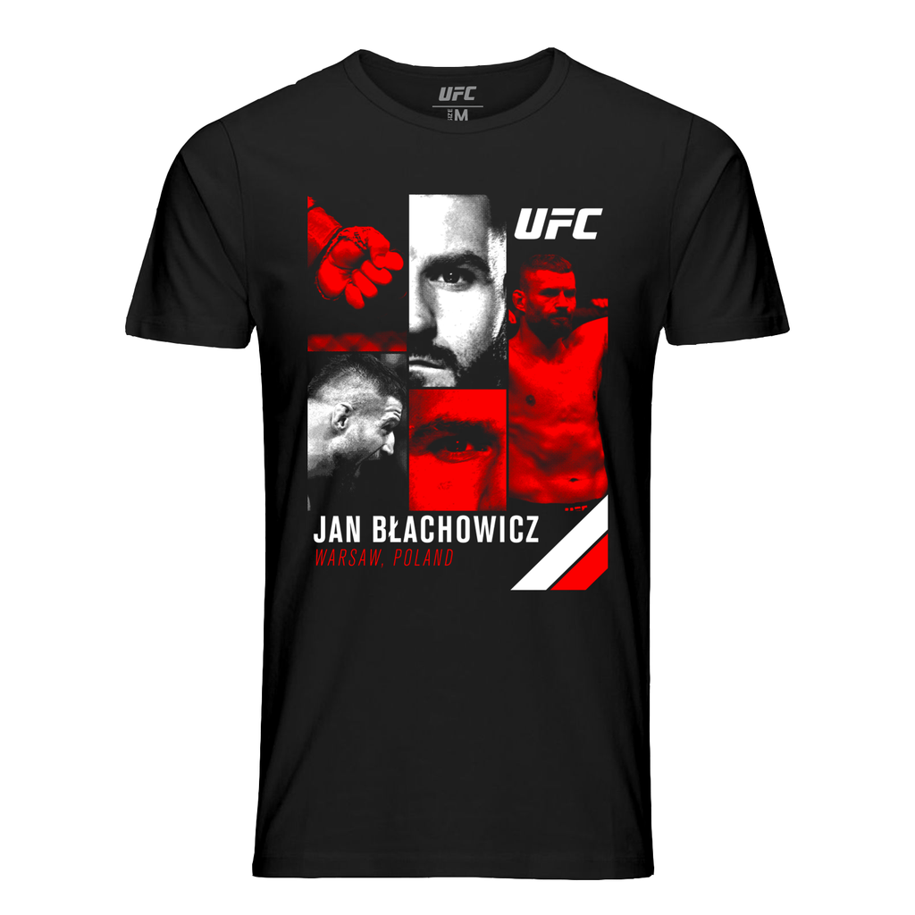 UFC Men's Jan Blachowicz Collage T-Shirt- Navy