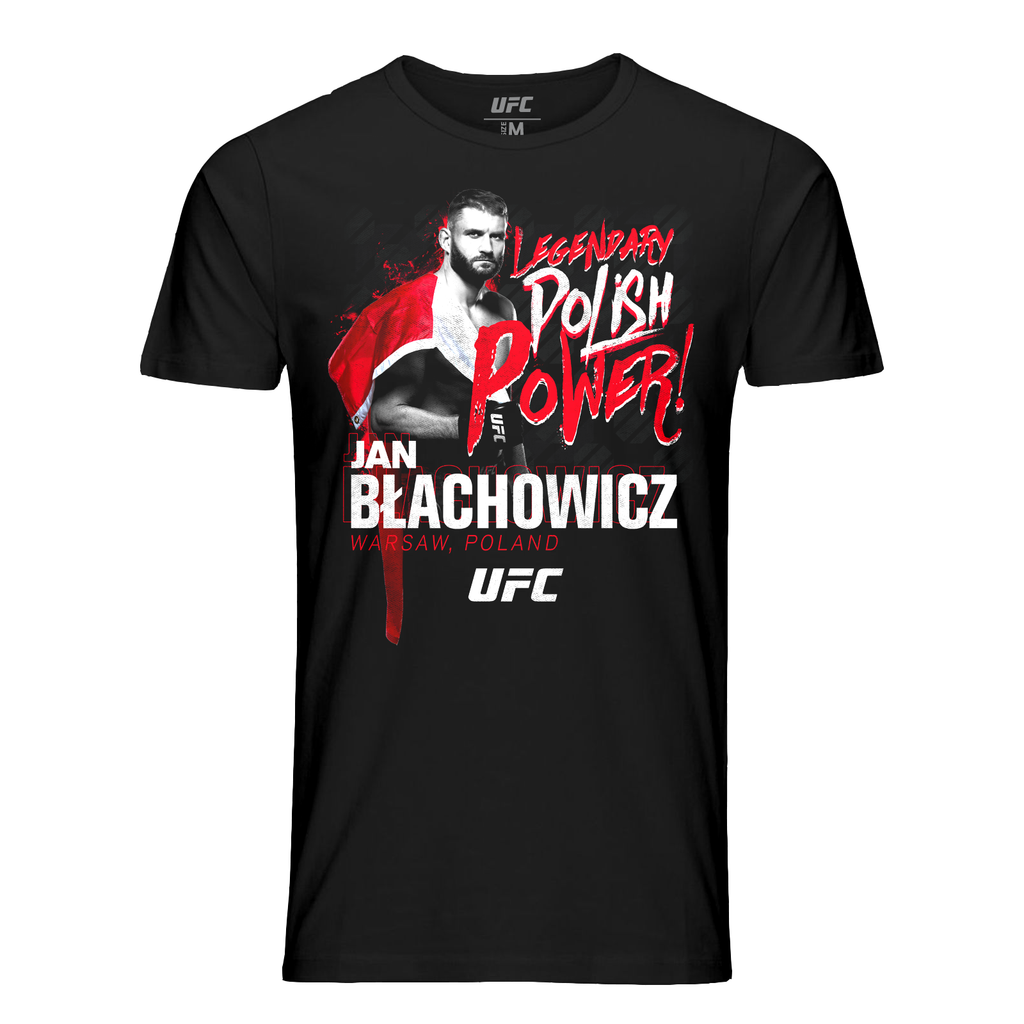 UFC Men's Jan Blachowicz Polish Power T-Shirt- Black