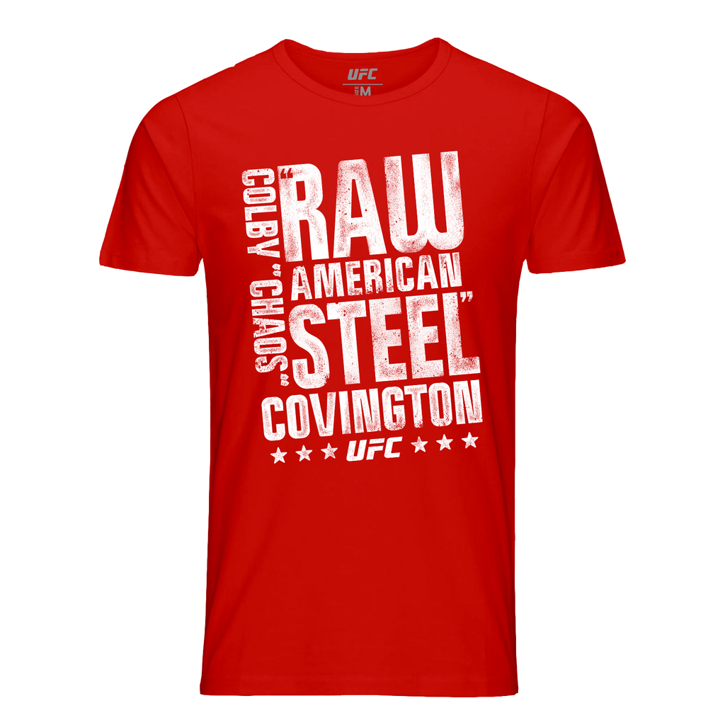 Men's UFC Colby Covington American Steel T-Shirt-Red
