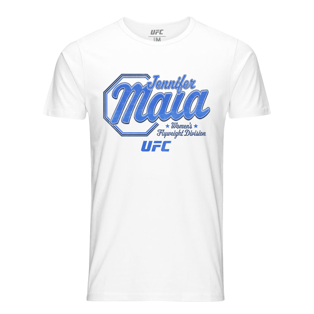 UFC Men's Jennifer Maia Script T-Shirt - White