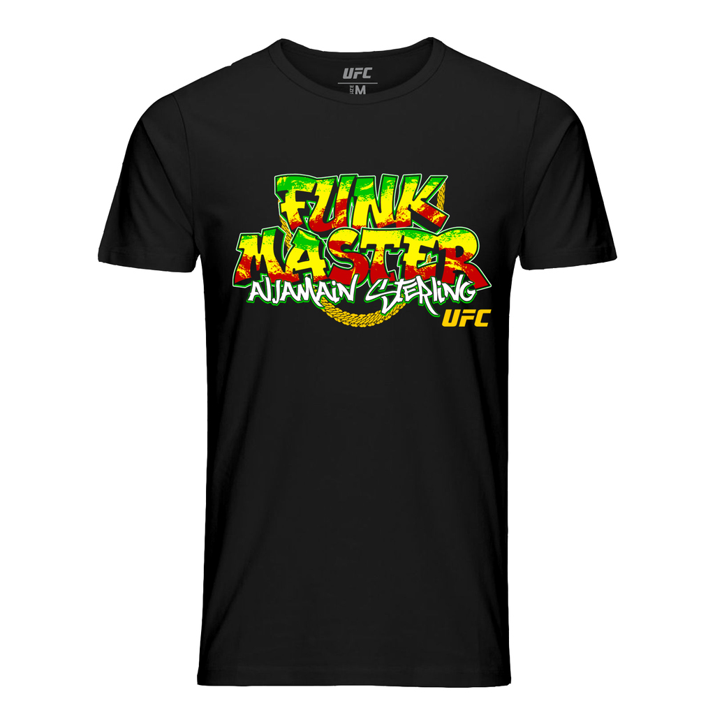 "Men's Aljamain ""Funk Master"" Sterling Graphic T-Shirt - Black"