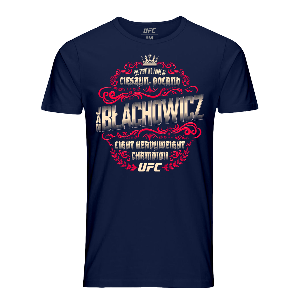 Men's Jan Blachowicz LHW Champ Crest T-Shirt- Navy