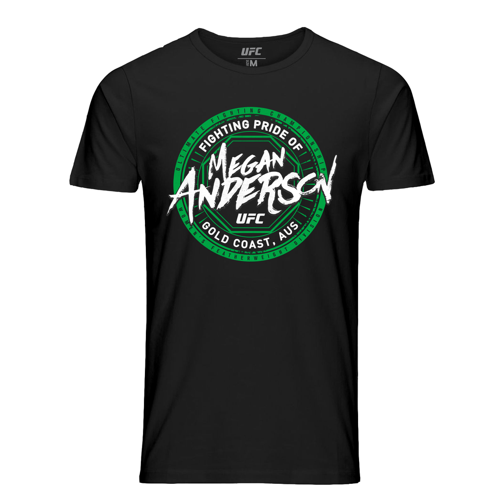 Men's UFC Megan Anderson Gold Coast Crest T-Shirt - Black