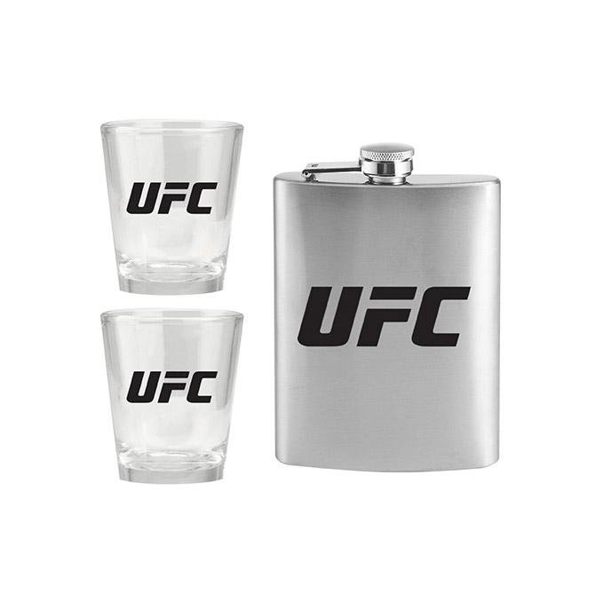 UFC Flask and Shot Glass Set