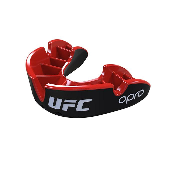 OPRO Black/Red UFC Silver Mouth Guard