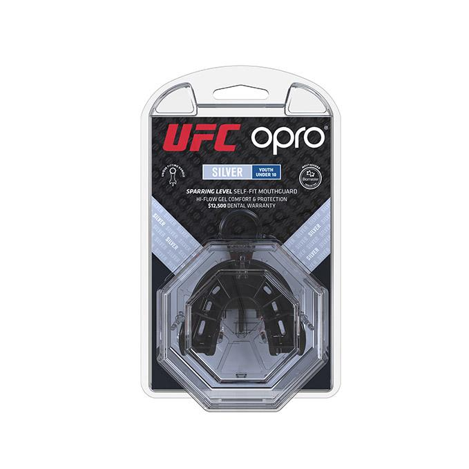 Kid's OPRO Red/Black UFC Silver Mouth Guard