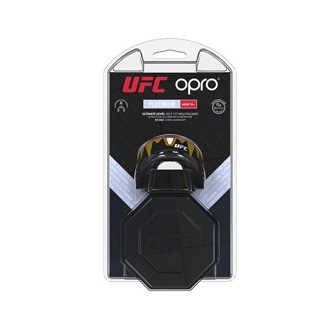 OPRO  Black/Red/Gold UFC Platinum Fangz Mouth Guard